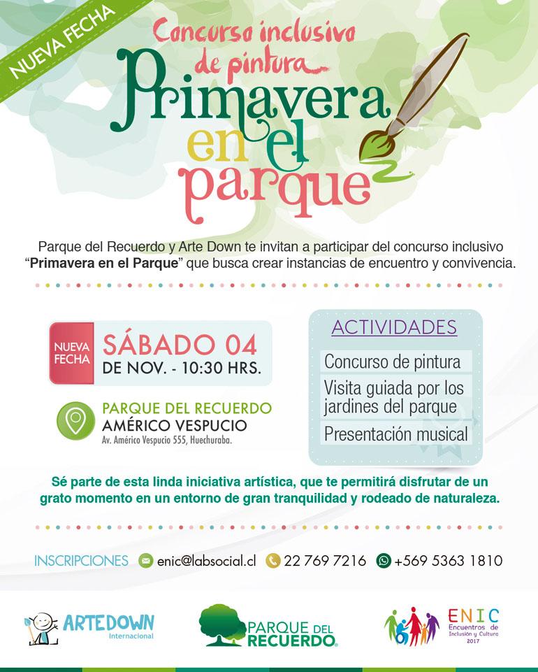 Concurso inclusivo de pintura - Primavera en el parque